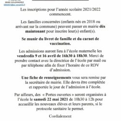 affiche info inscription maternelle
